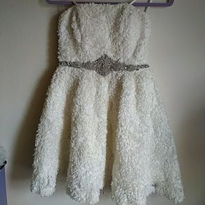 😍 beautiful As U Wish prom/ bridal strapless dres